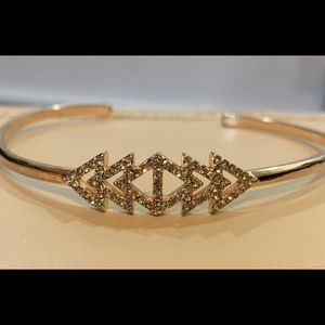 Stella & Dot Rose Gold Pave Cuff Bracelet